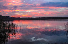 Lake During The Sunset In The ...