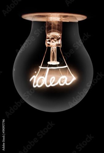 Canvas-taulu Light Bulbs Concept