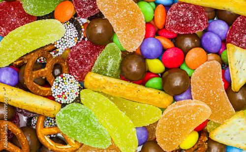 Fotobehang Snoepjes Bunte Süßigkeitenmischung