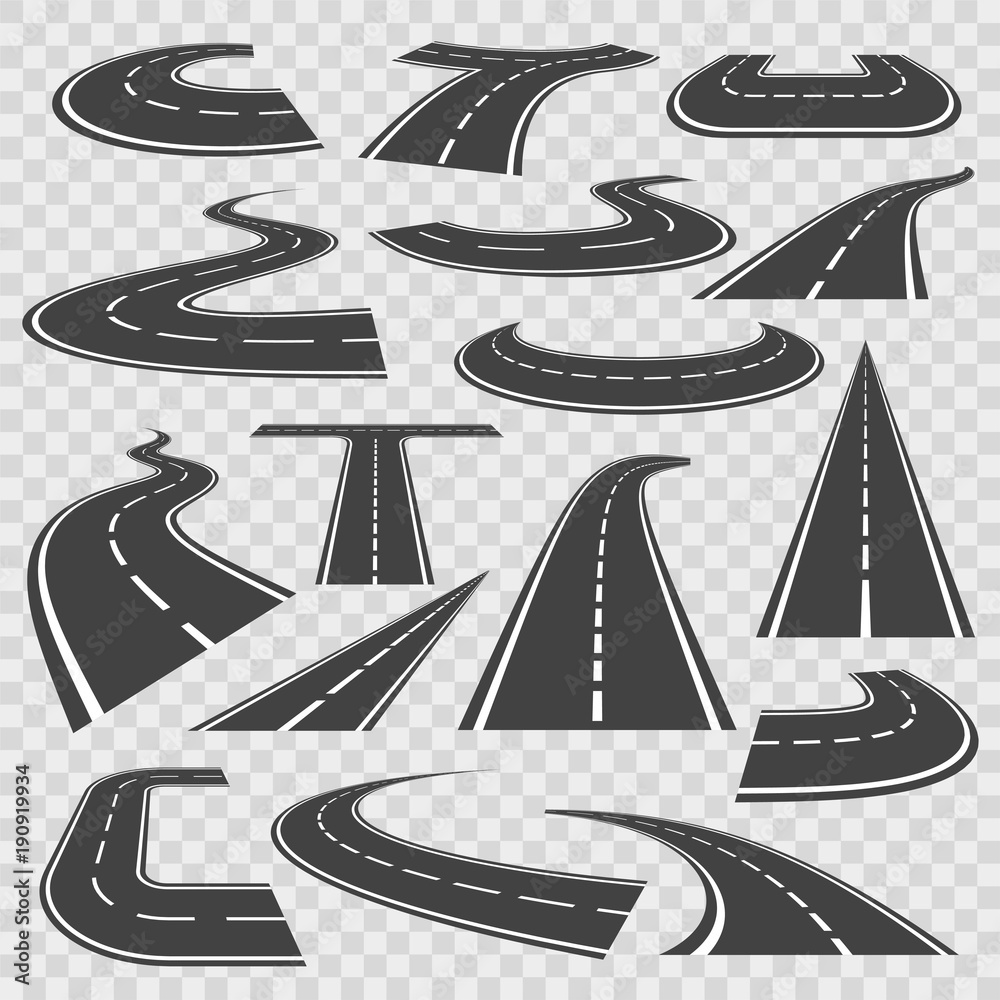 Fototapety, obrazy: Bending roads and high ways