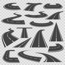 Bending Roads And High Ways