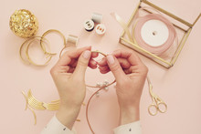 Jewelry Designer Workplace. Wo...