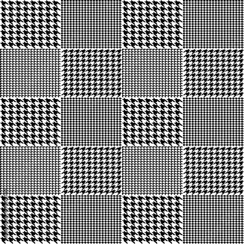 Creative vector illustration of fabric houndstooth seamless vector pattern background Canvas Print