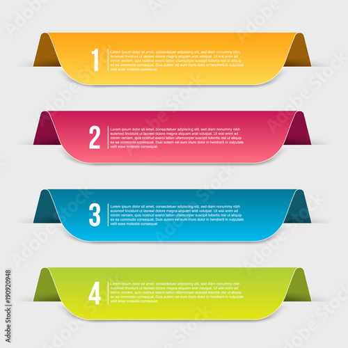 Photo  Creative vector illustration of infographics template step isolated on transparent background