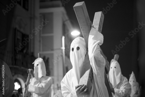 Valokuvatapetti procession that takes place on Easter Friday in Civitavecchia, in Italy