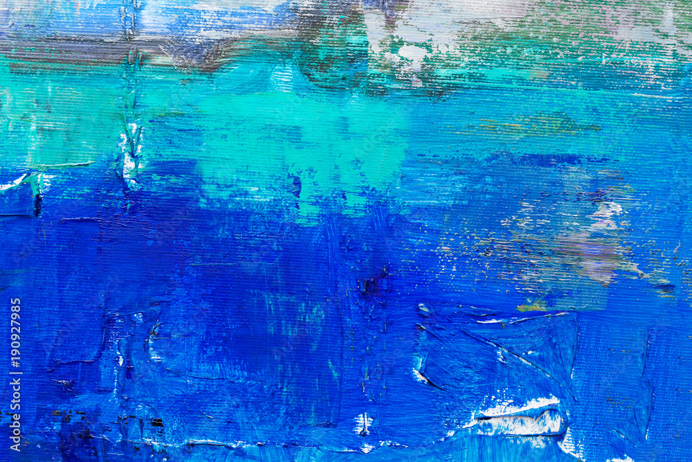 Fototapeta Artists oil paints multicolored closeup abstract background
