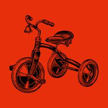 Antique Vintage Rare Children's Tricycle