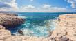 rocky coast of the island of Cyprus