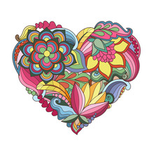 The  Drawn  Heart With Flowers...