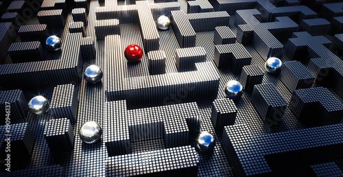Fotografie, Obraz  Digitales Labyrinth