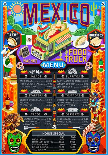fast food truck festival menu mexican taco chili pepper burrito