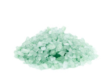 Pile Of Salt Crystals Isolated