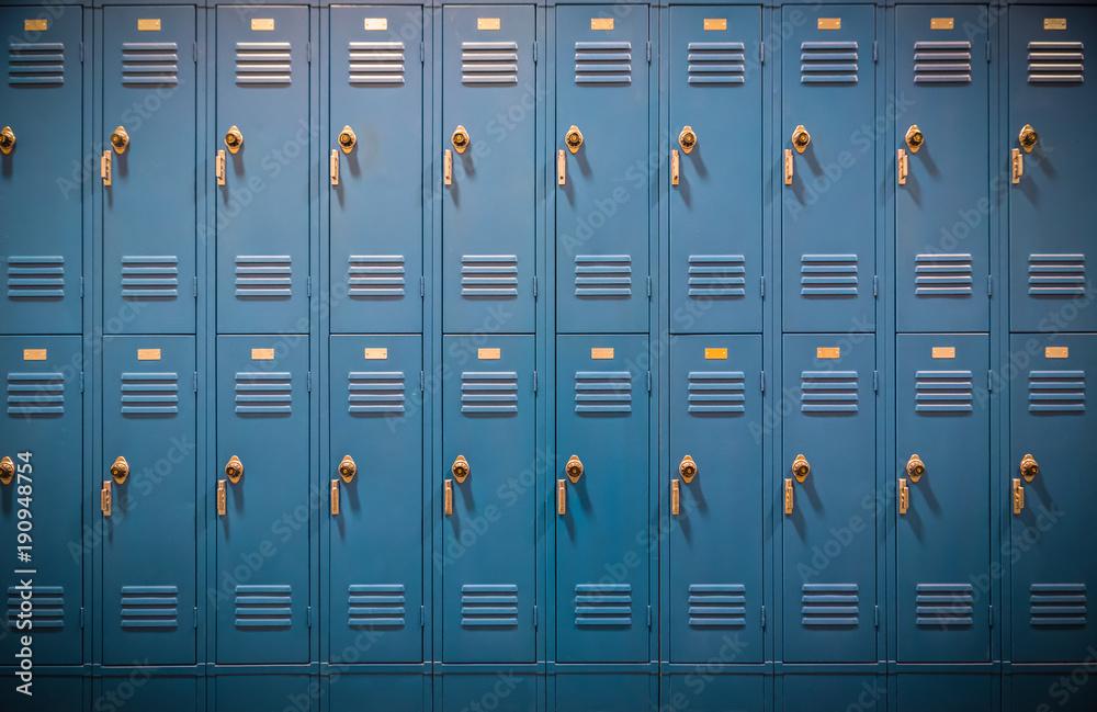 Fototapety, obrazy: Row of High School Lockers