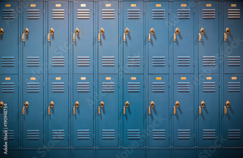 Fotografia, Obraz Row of High School Lockers