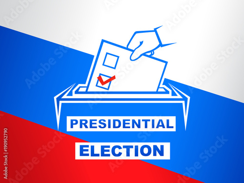 Photo  Presidential election in Russia vector illustration. Election day