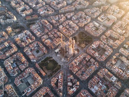 Sagrada Familia from the air