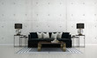 Leinwanddruck Bild The modern luxury interior design of lounge and living room and concrete wall texture background
