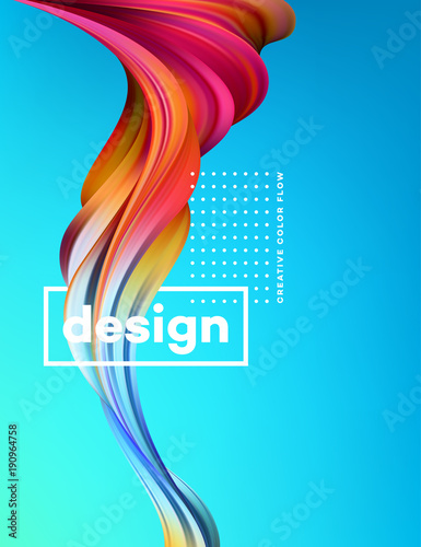Modern colorful flow poster Canvas Print