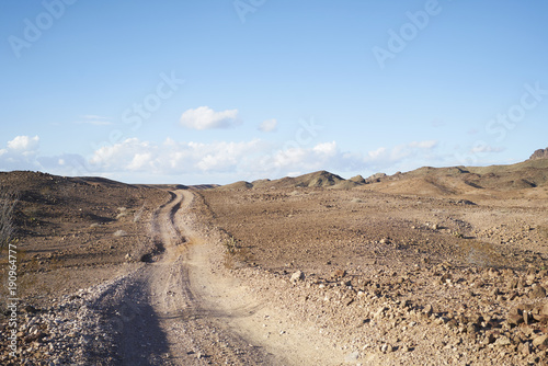 Deurstickers Blauwe hemel Desert Road, Imperial Desert, CA