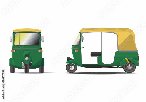 Classic India Rickshaw Vector Fototapet
