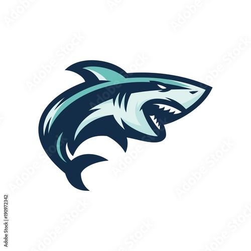 Fototapeta premium rekin - wektor logo / ikona ilustracja maskotka