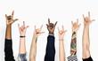Diversity hands gesturing love sign