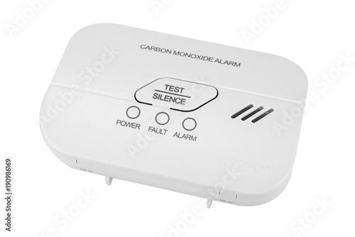 Valokuva Carbon monoxide alarm for safe sleep on white