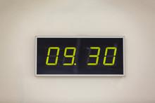 Black Digital Clock On A White...