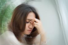 Sick Stressed Dizzy Woman Suff...