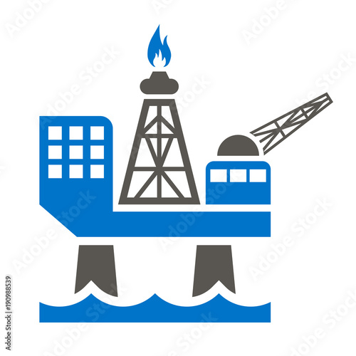 Offshore Jack Up Oil Rig Icon Gas Sea Rig Platform Illustration Petroleum Extraction Logo Fuel Production Symbol Buy This Stock Vector And Explore Similar Vectors At Adobe Stock Adobe Stock