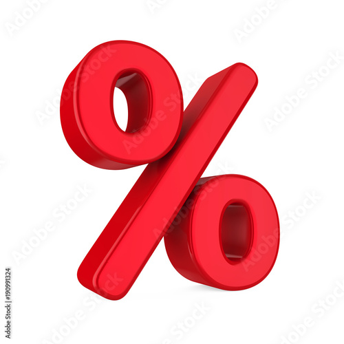 Fotografía  Percent Symbol Isolated
