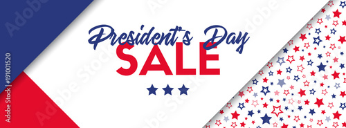 Fotografie, Obraz Presidents day sale banner