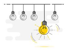 Set Of Light Bulbs Socket At T...