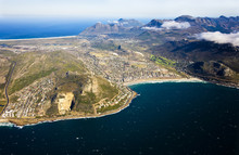 Aerial View Of Fish Hoek Valley And Clovelly, Cape Town, South Africa. Also Visible Is Glencairn On The Left And Over The Top Is Noordhoek Beach And Chapman's Peak In The Distance.