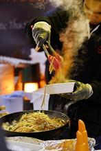 Noodles At A Street Market