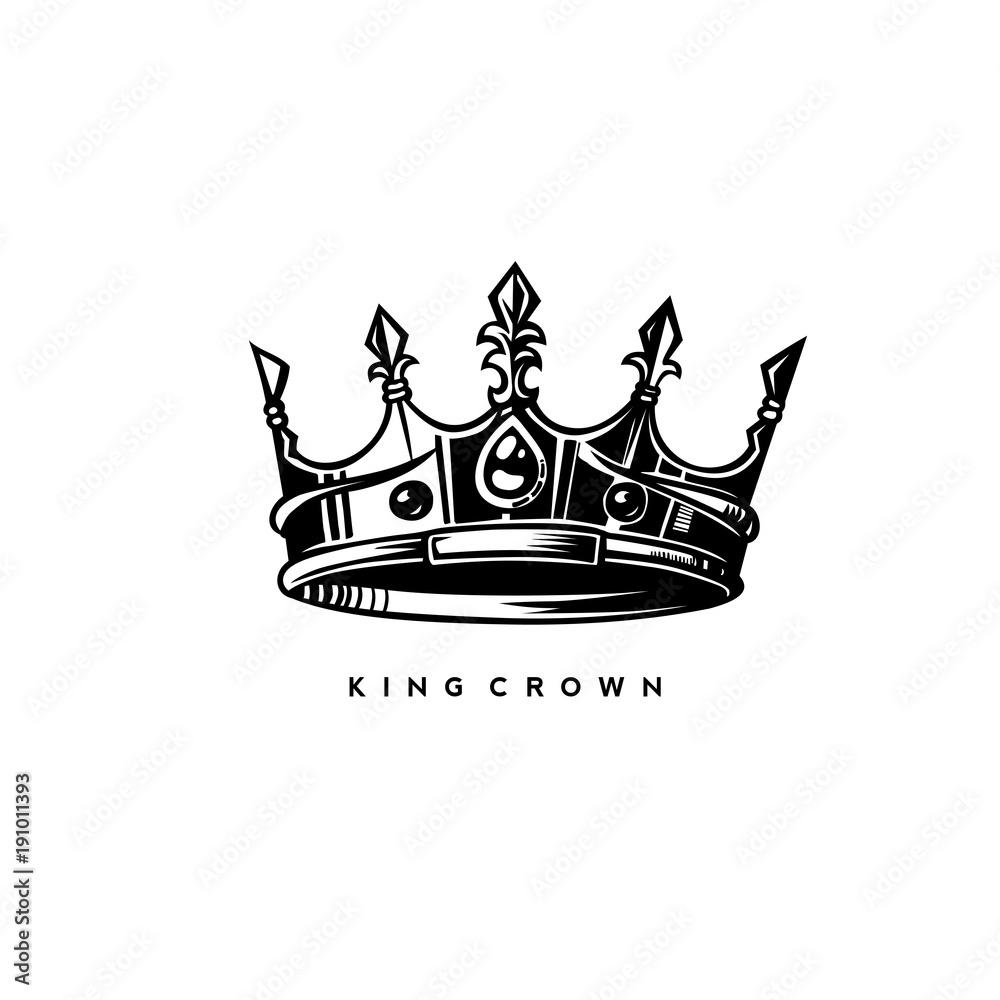 Fototapeta simple kings crown vector illustration