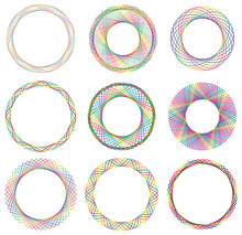 Colorful Circle Border Frame W...