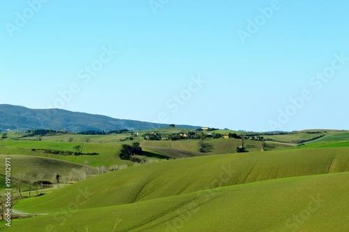 Poster Hill frühlingshafte Landschaft in der Toskana
