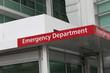 Hospital emergency department sign