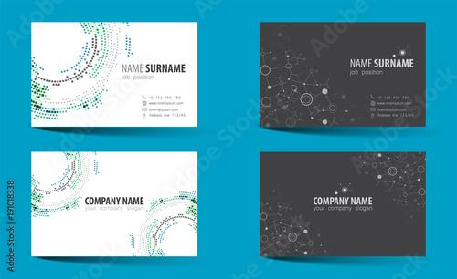 Creative Double Sided Business Card Template Acheter Ce Vecteur