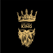 Golden Logo Of Crown,mustache ...