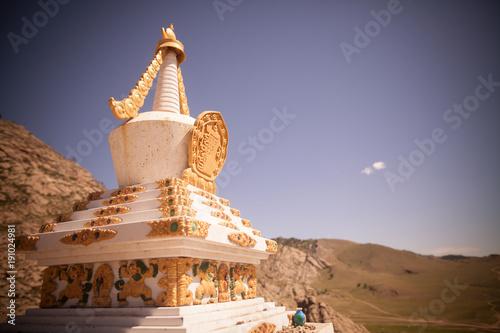 Carta da parati Buddhist stupa in Mongolia