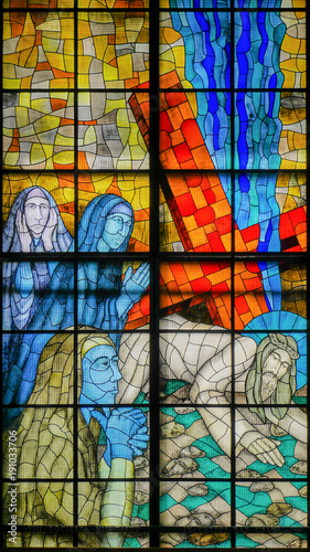 Cuadros en Lienzo modern stained glass depicting Jesus Christ