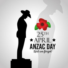 Anzac Day Lest We Forget Vecto...