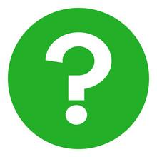 Question Mark (FAQ) In Green C...