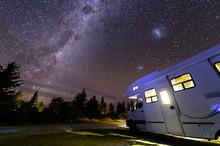 Motorhome Under Milky Way