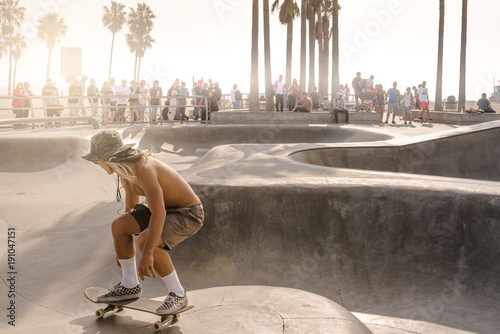 Fotografie, Obraz  skate park in Venice Beach(Los Angeles)