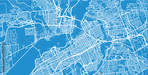 Canvas Print Urban vector city map of Ottawa, Canada