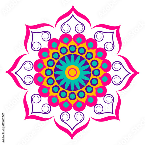 Decorative colored mandala Fototapeta