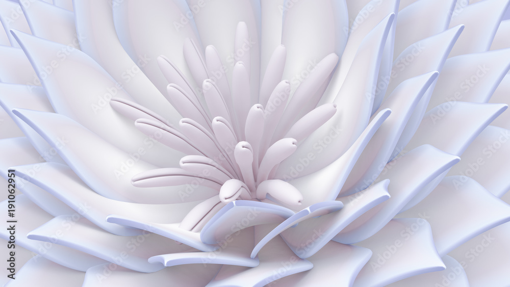 Beautiful background with flowers. 3d illustration, 3d rendering.